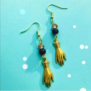 Palm Reader Boho Grunge Earthbound Drop Earrings